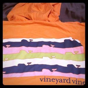 Vineyard Vines hoody t-shirt in faded tangerine